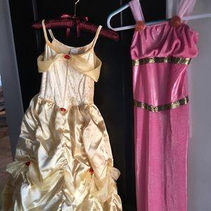 Belle and Megara Disney Dresses Large Girl 10/12